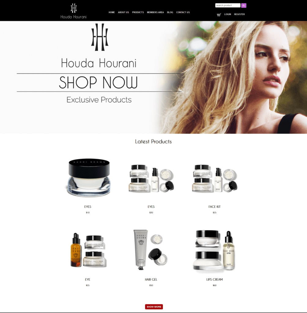 Houda Shop | Website Design | MMP Longwood