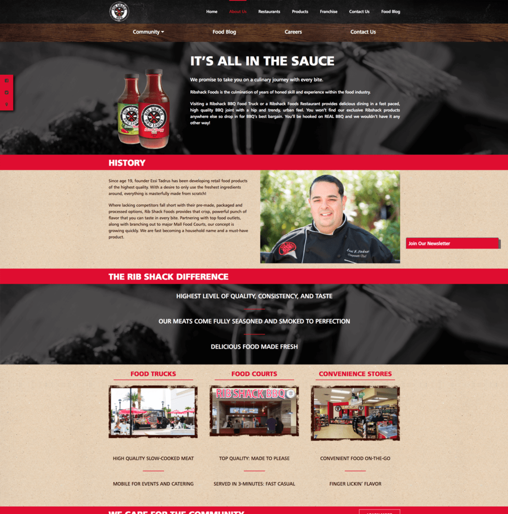 About | Ribshack Website | MMP Longwood