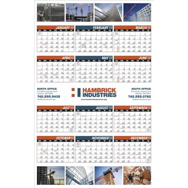 One Page Wall Calendar | MMP Longwood