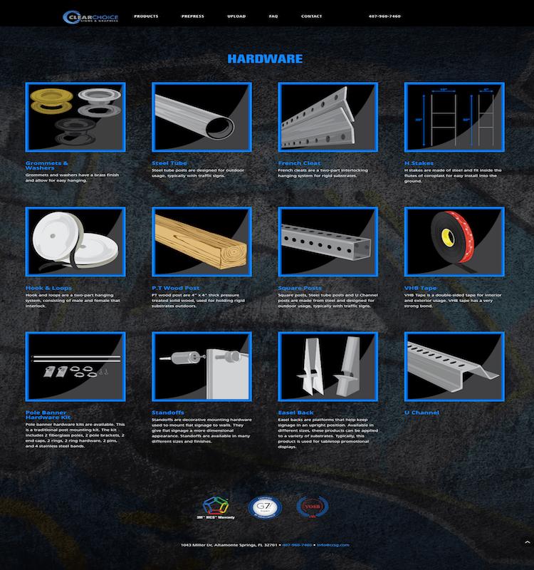 CCSG Hardware Page | Portfolio | MMP Longwood